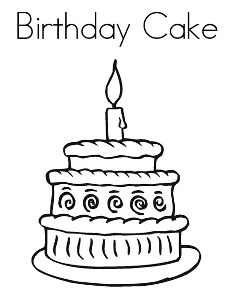 birthday cake coloring pages preschool birthday cake coloring pages printable