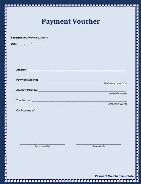Payment Card Template by Payment Voucher Template Professional Templates