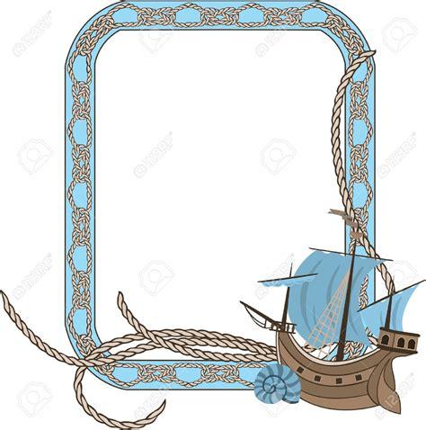 boat themed clipart nautical clipart border shell border sea frame party