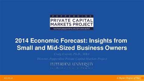 Small Business Owner Mba by 2014 Economic Forecast Insights From Small And Mid Sized