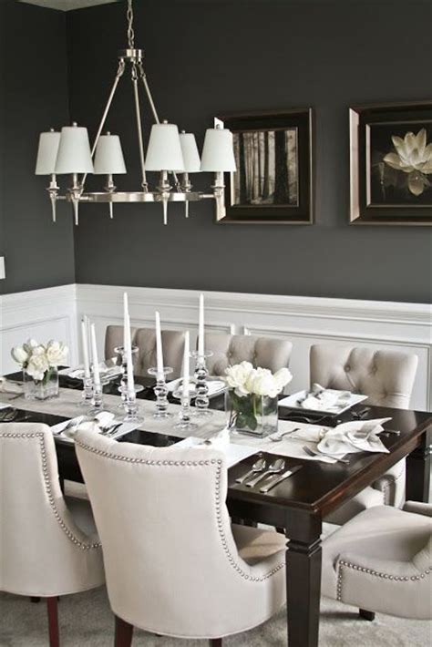 dark gray dining room elegant dining room i love the contrast between the dark