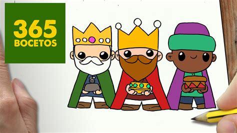 imagenes de reyes magos faciles como dibujar reyes magos para navidad paso a paso dibujos