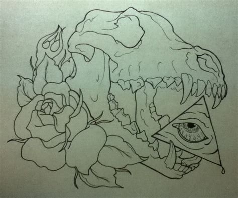 wolf skull by jcaseytattoo on deviantart
