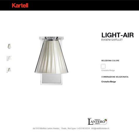 illuminazione kartell kartell illuminazione lada da parete light air applique