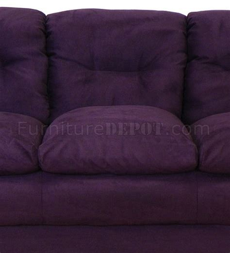 eggplant sofa 6300 lisa sofa loveseat set in bulldozer eggplant by chelsea
