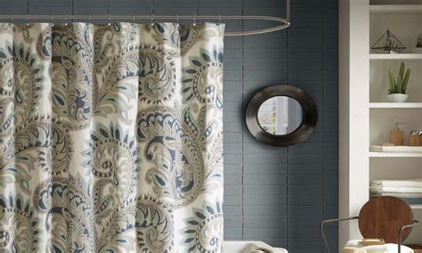 how to put up curtains 3 steps for how to install a shower curtain overstock com