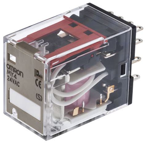 Omron General Relay Ly4n Dc 24v My4 24ac S Omron 4pdt In Non Latching Relay 24v