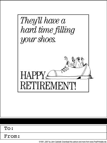 printable retirement jokes retirement printable greeting card