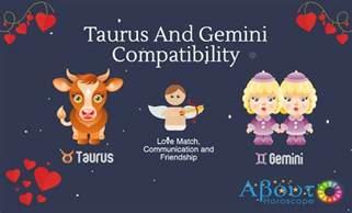 taurus and gemini compatibility love and friendship