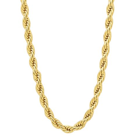 14k Gold Plated Mouse 4mm 14k gold plated rope chain ebay