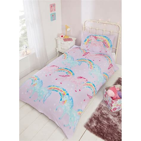 unicorn bedding sets kids single duvet set unicorn bedding b m