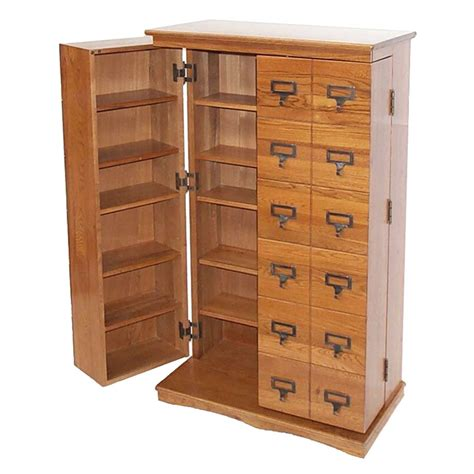 Oak Cd Storage Cabinet Leslie Dame Library Style Multimedia Storage Cabinet Oak Cd 612ld
