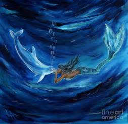 Dragon Wall Mural mermaids dolphin buddy painting by leslie allen