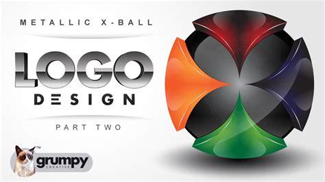 design a logo using illustrator part ii professional vector 3d mettallic x globe logo