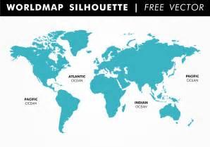 usa globe map vector worldmap silhouette free vector free vector