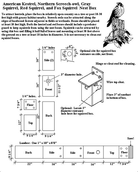 kestrel house plans download kestrel bird house plans plans free