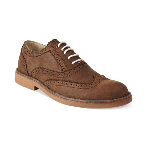 hilfiger oxford shoes hilfiger stanford2 oxford shoes in brown for