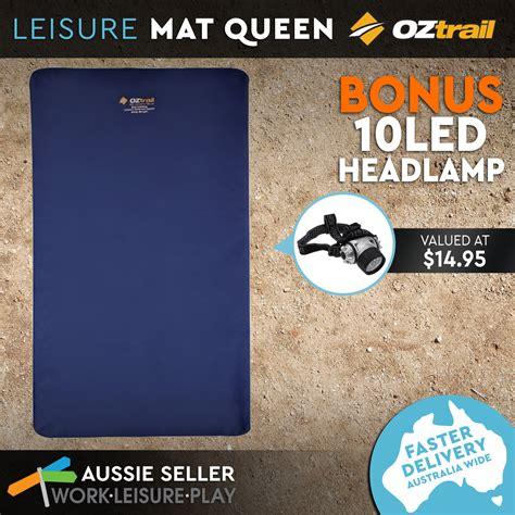 Tikar Plastik Leisure Mat 3 X 4 oztrail velour leisure mat self inflating mattress 195x150x10cm cing ebay
