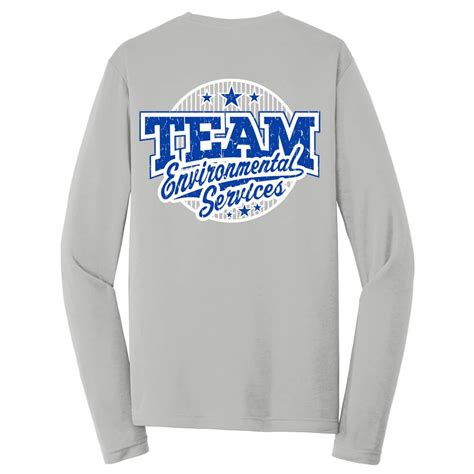 team environmental services  sided long sleeve  shirt personalized positive promotions