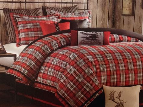 woolrich comforter set twin williamsport red plaid sham