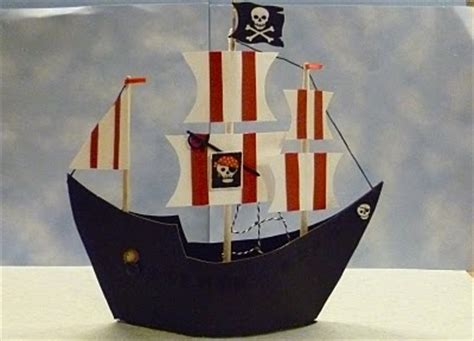 How To Make A Pirate Ship From Paper - pirate ship made of paper school project ideas