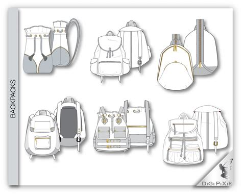 backpack template digipixie adobe illustrator backpack pack sketch