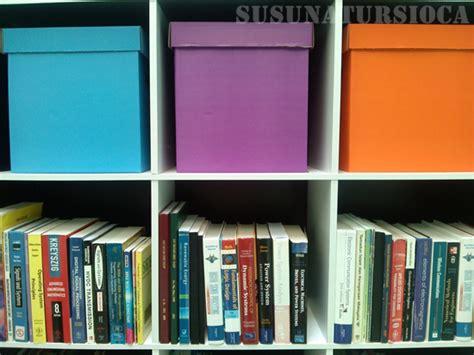 Rak Buku Susun mengemas rak buku untuk mini library bhgn 2 susun atur