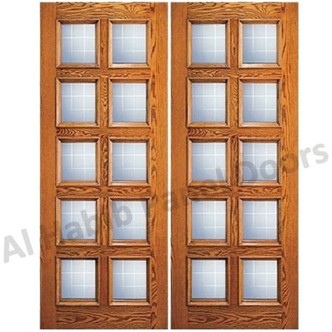 Wood Door With Glass Panel Ash Wood Glass Panel Door Hpd451 Glass Panel Doors Al Habib Panel Doors