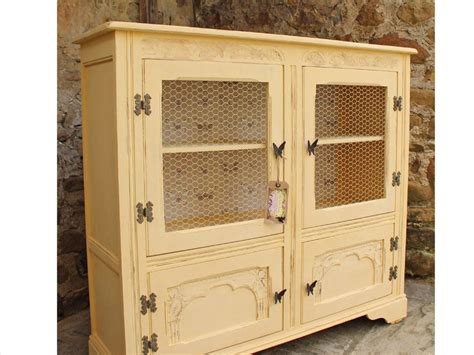 Shabby Chic Vintage Display Cabinet/ Bookcase Painted