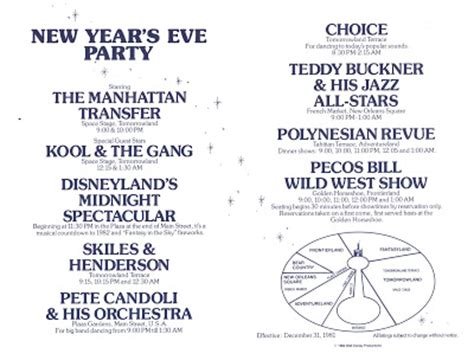 new year january 1981 vintage disneyland tickets new years at disneyland