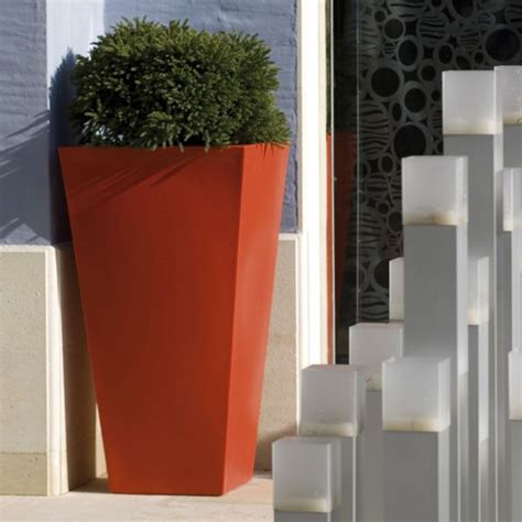 alto tapered square large outdoor garden planter