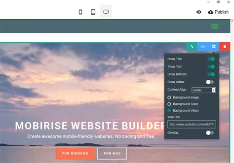 chrome themes builder parallax website builder video background doesn t work in