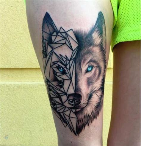body tattoos tumblr geometric wolf with regard to wolf