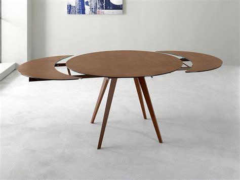 tavolo rotondo allungabile argo tavolo rotondo allungabile in vetro