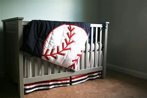 baseball crib bedding grand slam comforter baseball theme decor by thetextileshop321