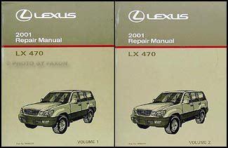 old car manuals online 2001 lexus lx auto manual 2001 lexus lx 470 navigation system owners manual original