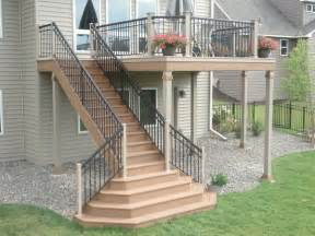 Patio Stairs Design Deck Stairs Deck Builders In St Paul 4 Quarters Design Build