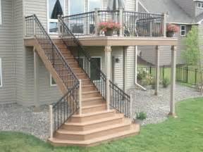 deck stairs ideas deck stairs deck builders in st paul 4 quarters