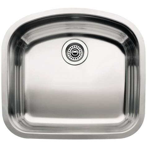 home depot stainless steel sinks blanco wave undermount stainless steel 22 in single bowl