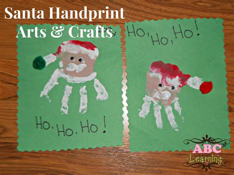 santa handprint arts crafts for kids and loversiq