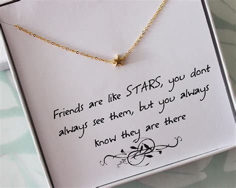 thank you letter to friend for birthday gift in necklace with message card friendship necklace jewelry