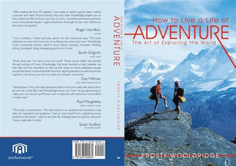 a lifetime of adventures books book how to live a of adventure by frosty