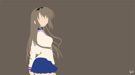 clannad anime website tomoyo sakagami clannad minimalist wallpaper by