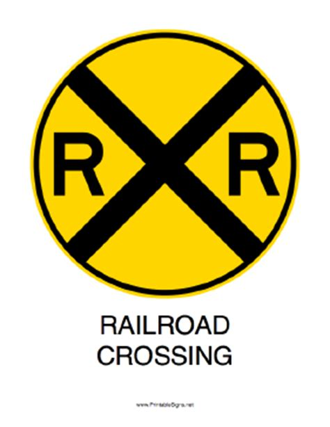 printable railroad signs free printable railroad crossing sign print and laminate