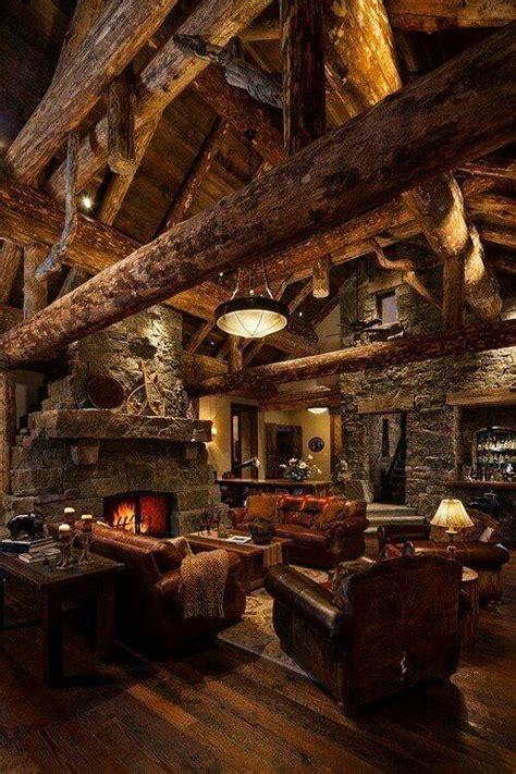good    building  log cabin founterior