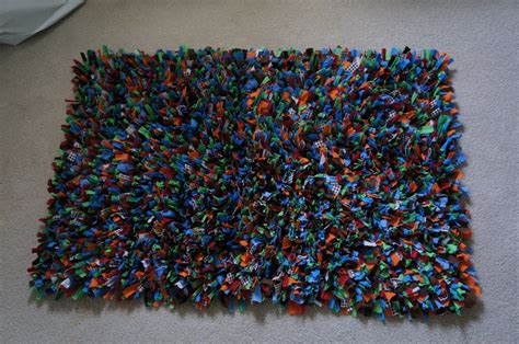 2nd story sewing rag rug
