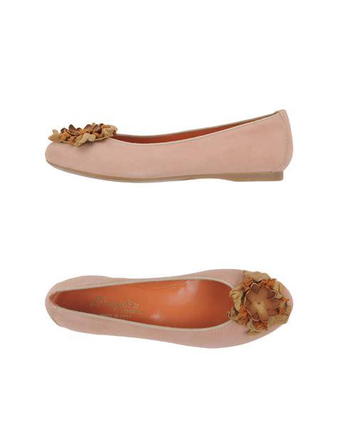 beige ballet slippers f lli bruglia ballet flats in beige skin color lyst