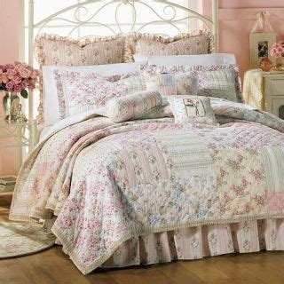 twin quilt bed shabby cottage pink roses blue green yellow white quilts pinterest twin
