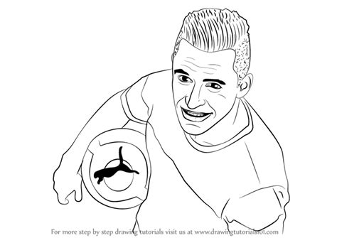 alexis sanchez drawing learn how to draw alexis sanchez footballers step by