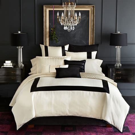 luxe bedding hudson park luxe herringbone hemstitch collection